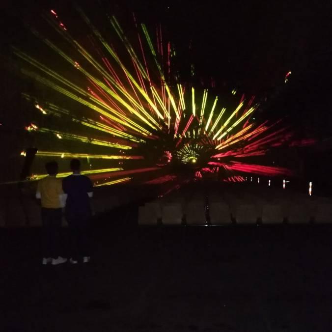 Laser Show im Bunker